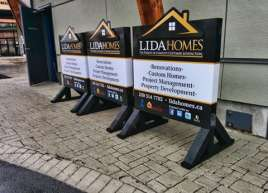Custom Construction Signs for Lida Homes