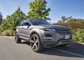 Full Charcoal Matte Metallic Wrap on a Range Rover Evoque