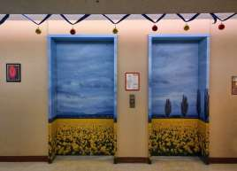 Elevator Wraps for Sunset Lodge