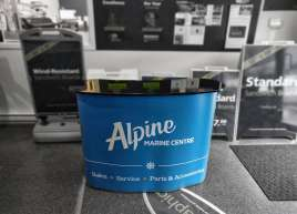 Podium stand for Alpine Marine