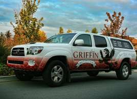 Griffin Restoration Tacoma Truck Wrap