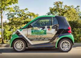 Full Smart Car Wrap for End of the Roll