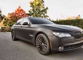 BMW 7 Series Matte Black Wrap