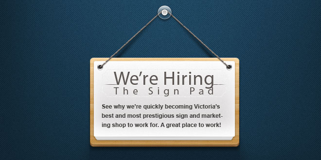we re hiring full time graphic designer wanted the sign pad